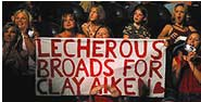 Lecherous Broads for Clay Aiken!